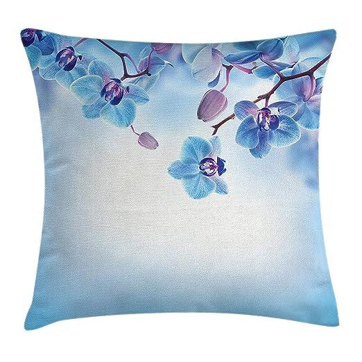 tyui7 Funda de cojín Decorativa Almohada Orquídeas Asiáticas ...