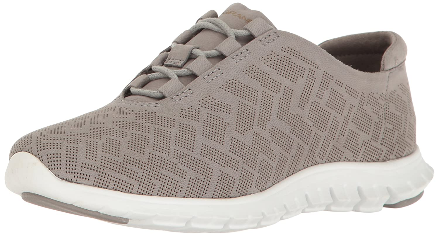 Cole Haan Women's Zerogrand Genevieve Perf Trainer B01N6XV3KN 9.5 C US|Ironstone Perforated Nubuck/Optic White