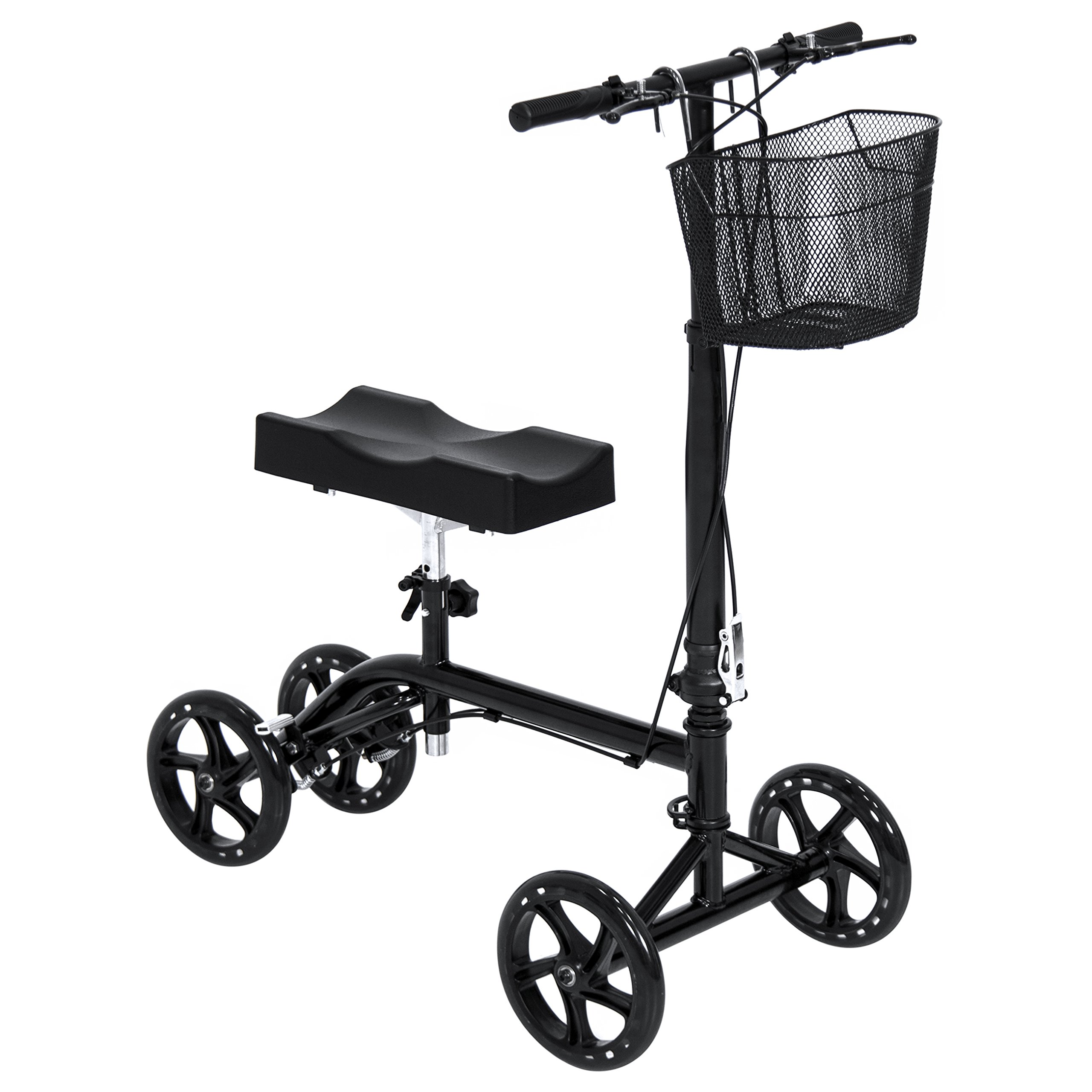Knee Walker Scooter Leg Crutch Steerable Turning Folding W/ Basket FDA Approved