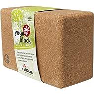 Manduka Cork Block Yoga Prop, Natural