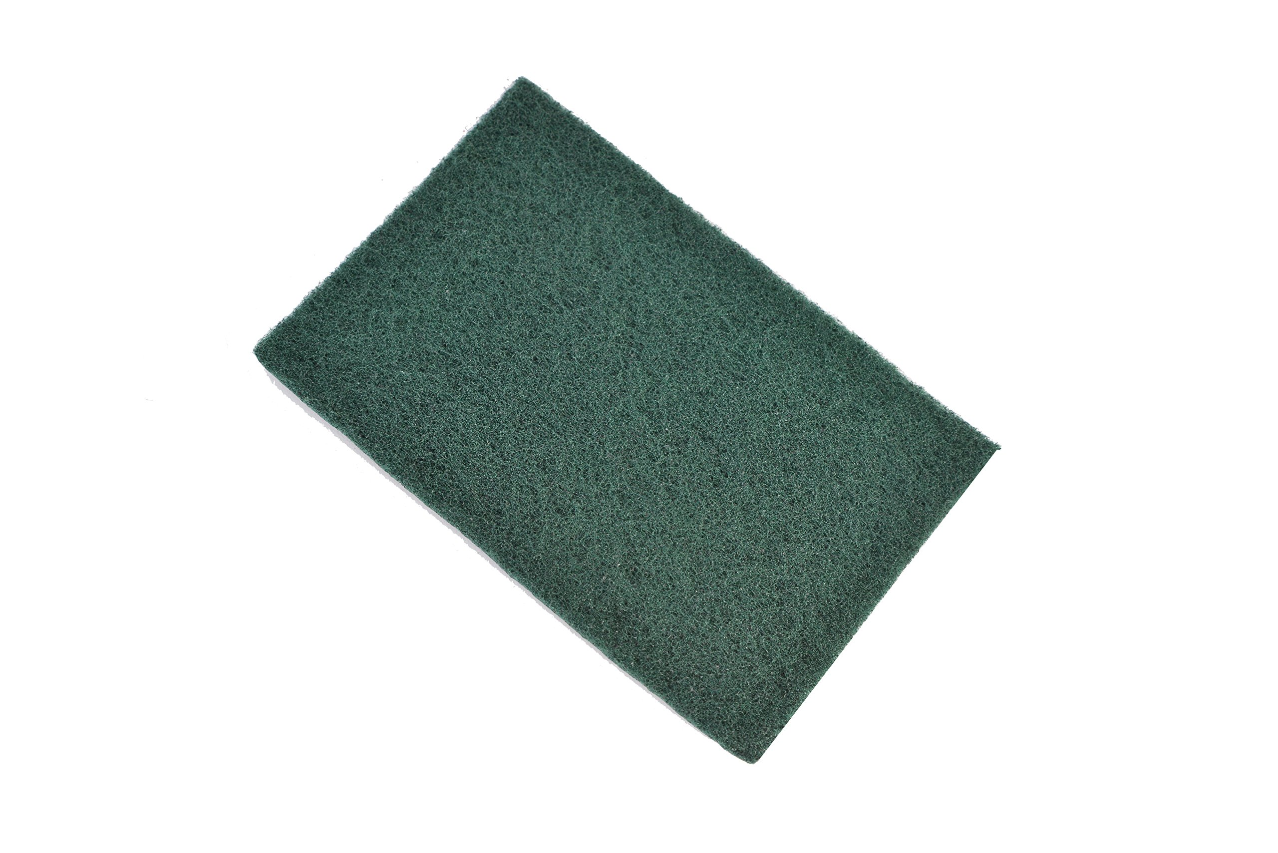 Janico ScrubX 3086 Heavy Duty Industrial Commercial Scouring Scrubber Pads, Green, #86 Green Pad, Pack of 60
