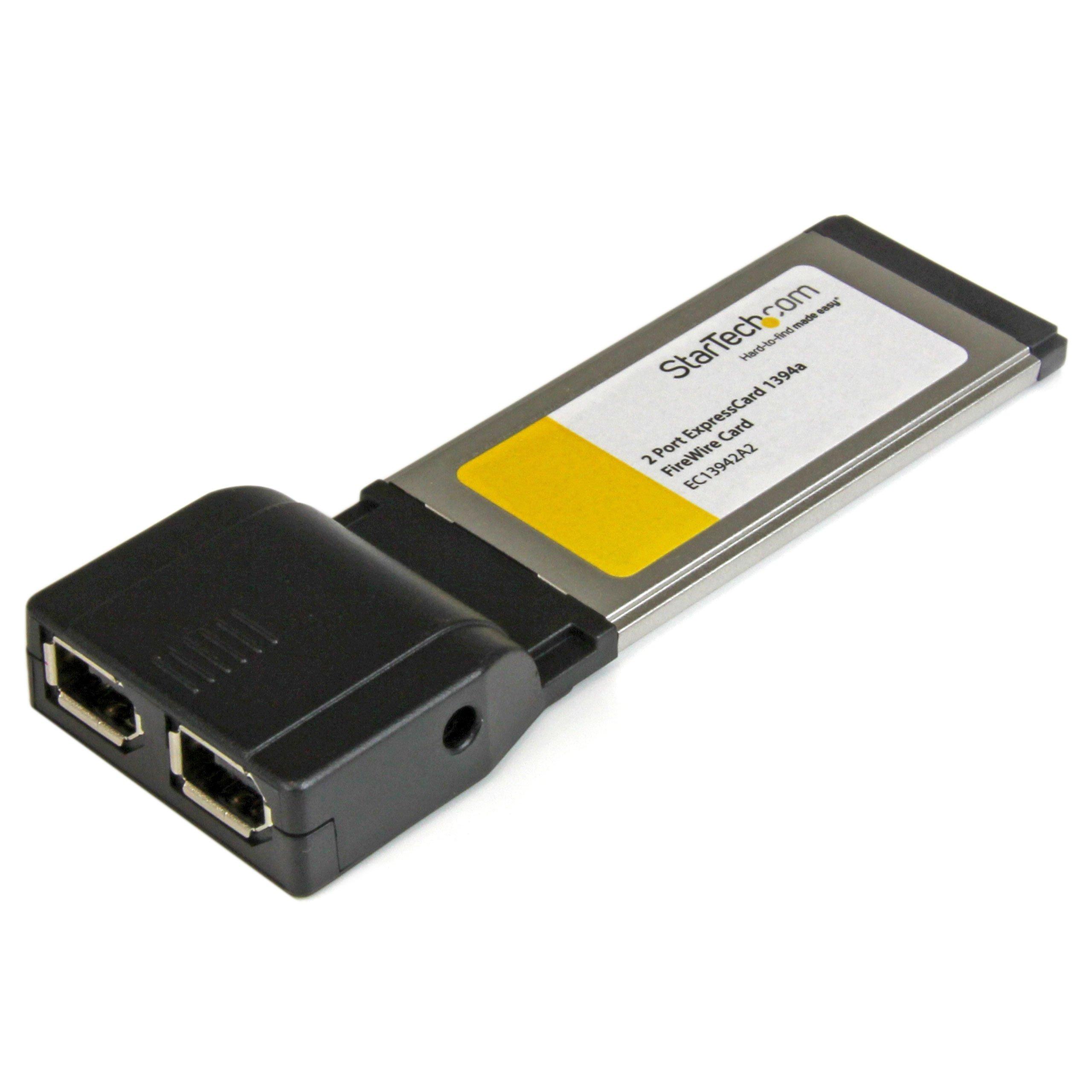StarTech.com 2 Port ExpressCard 1394a FireWire Laptop Adapter Card - Dual Port ExpressCard 1394a Laptop FireWird Card (EC13942A2) by StarTech