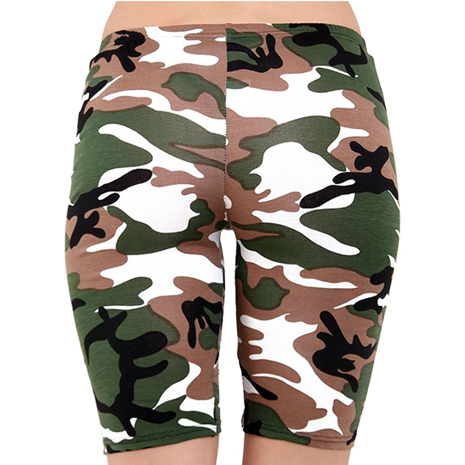 b5d4f3b9dfd6b Candid Styles Women's Ladies Army Leopard Skull Printed Cycling Hot Jersey  Stretchy Pants Shorts: Amazon.co.uk: Clothing