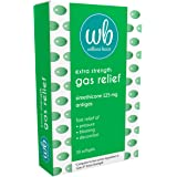 Wellness Basics Extra Strength Gas Relief (125mg Softgel), Green 30 Count (Pack of 1)