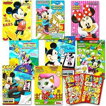 Amazon.com: Disney Coloring Books For Kids Toddlers Bulk Set -- 8 ...