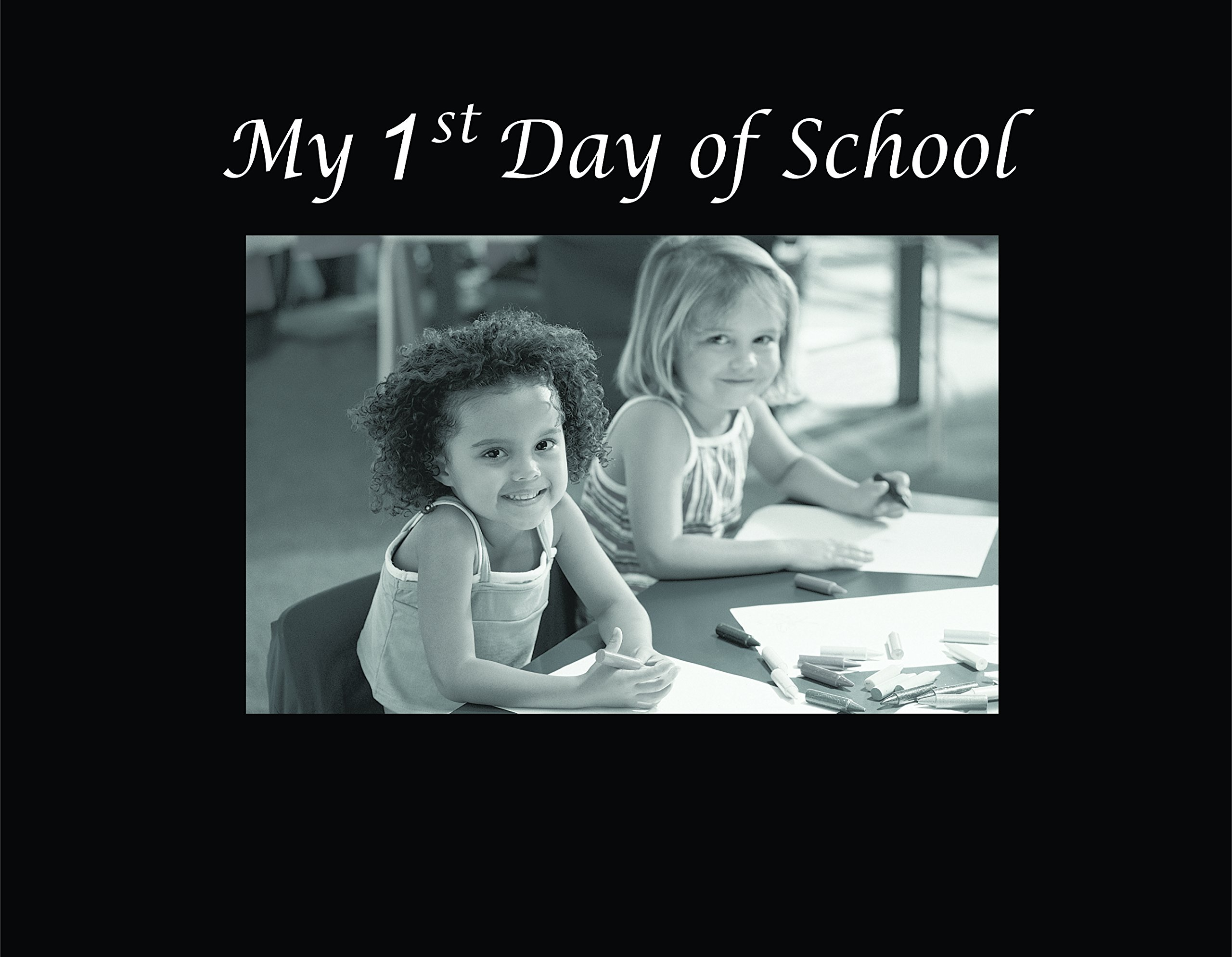 Infusion Gifts 3037-SB My 1st Day of School Engraved Photo Frames, Small, Black
