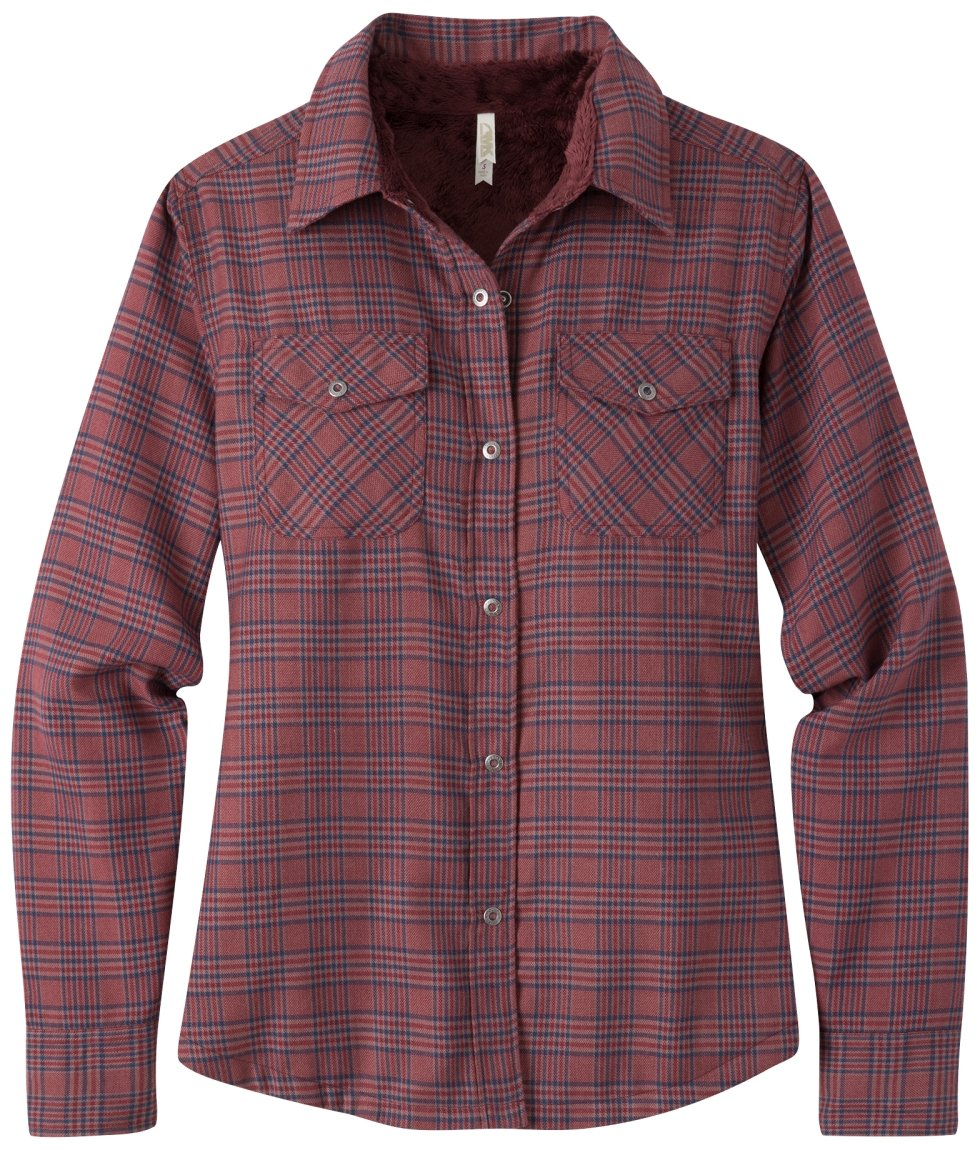 Mountain Khakis Women's Christi Fleece Lined Shirt, Beaujolais, Medium