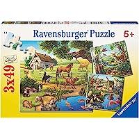 Ravensburger Forest Zoo & Pets Puzzle 3x49pc,Children's Puzzles