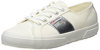 Superga 2750 Cotcotmetw, Baskets Femme, Blanc (White Silver C39), 37.5 EU