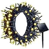 Litom Outdoor Solar String Lights 200 LED Solar Power Light with 8 Working Modes Warm White