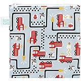 Bumkins Sandwich Bag/Snack Bag, Reusable, Washable, Food Safe, BPA Free, 7x7 – Fire Engine