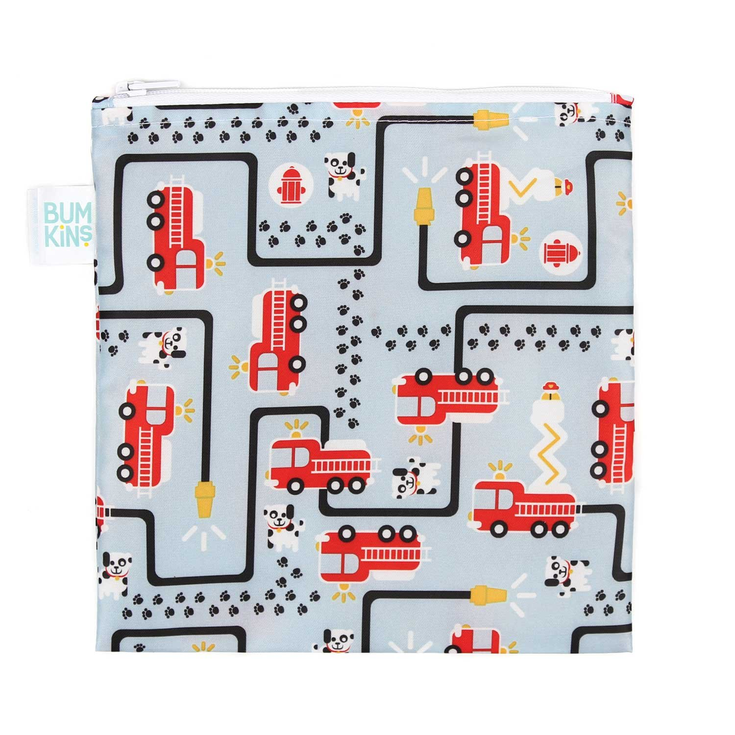 Bumkins Reusable Snack Bag Large, Fire Engine