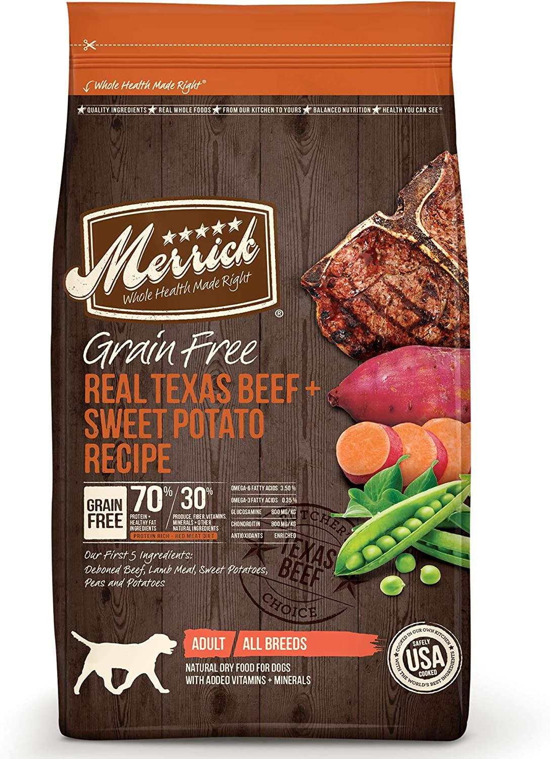 3. Merrick Grain-Free Texas Beef & Sweet Potato Recipe Dry Dog Food