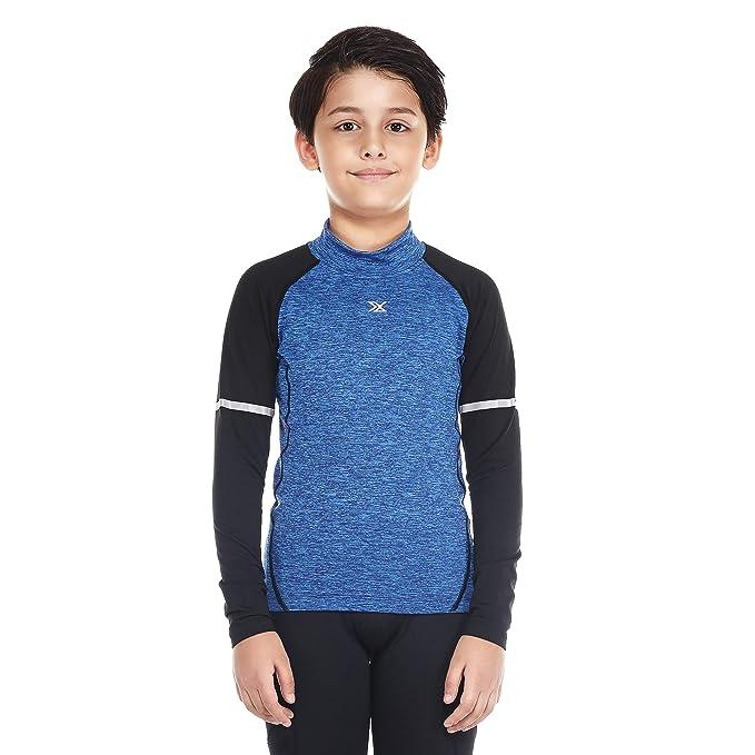 Bwiv Térmica Interior Niño Camiseta Deporte Manga Larga de Compresión para Esquí Caliente Ropa Interior Polar