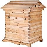 BestEquip Beehive Auto Flow 20x16x10 Inch Wooden Honey Beehive 7 Pcs Frames Honey Beehive Kits (wood)