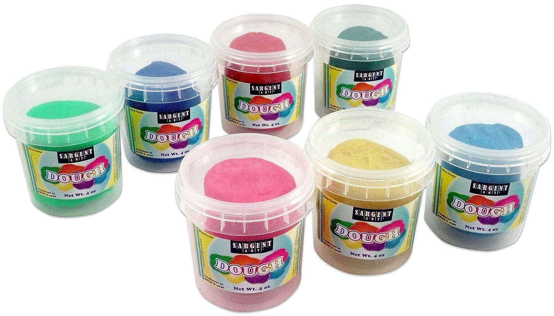 7 Different Bright Colors 4 Ounces Each Sargent Art 85-3405 Fun Dough Play Assortment