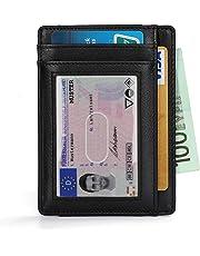 97542f8155 Vemingo Portafoglio Uomo Vera Pelle Porta carte di credito/portafoglio uomo  in pelle con serratura
