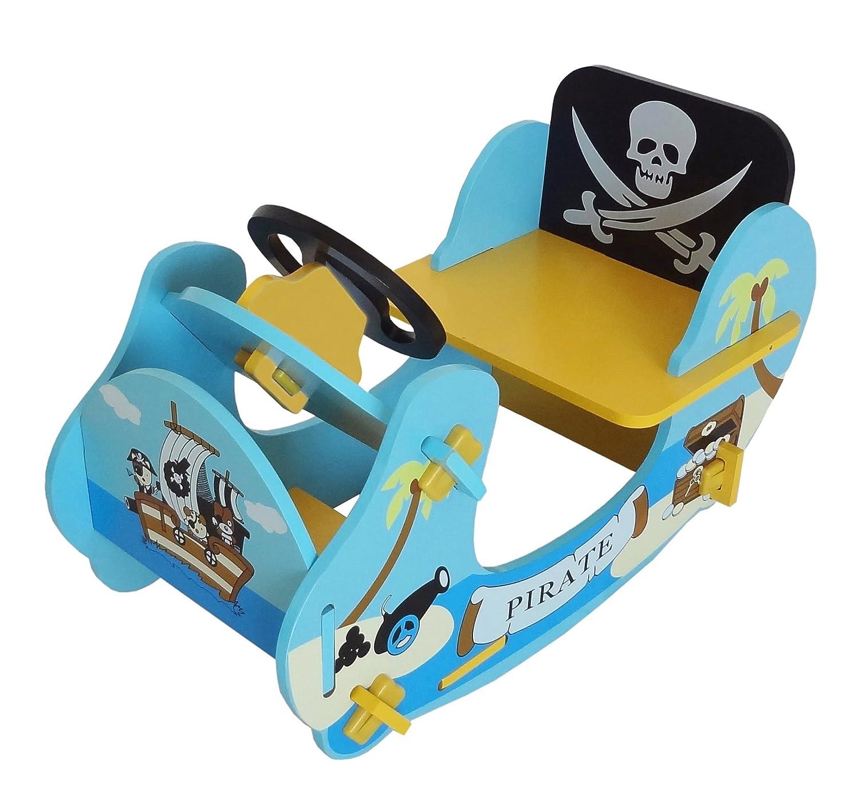 Kiddi Style les enfants Bateau/Jouet à Bascule Motif Pirate - Bois BEHG4 PRF1RB-Blue