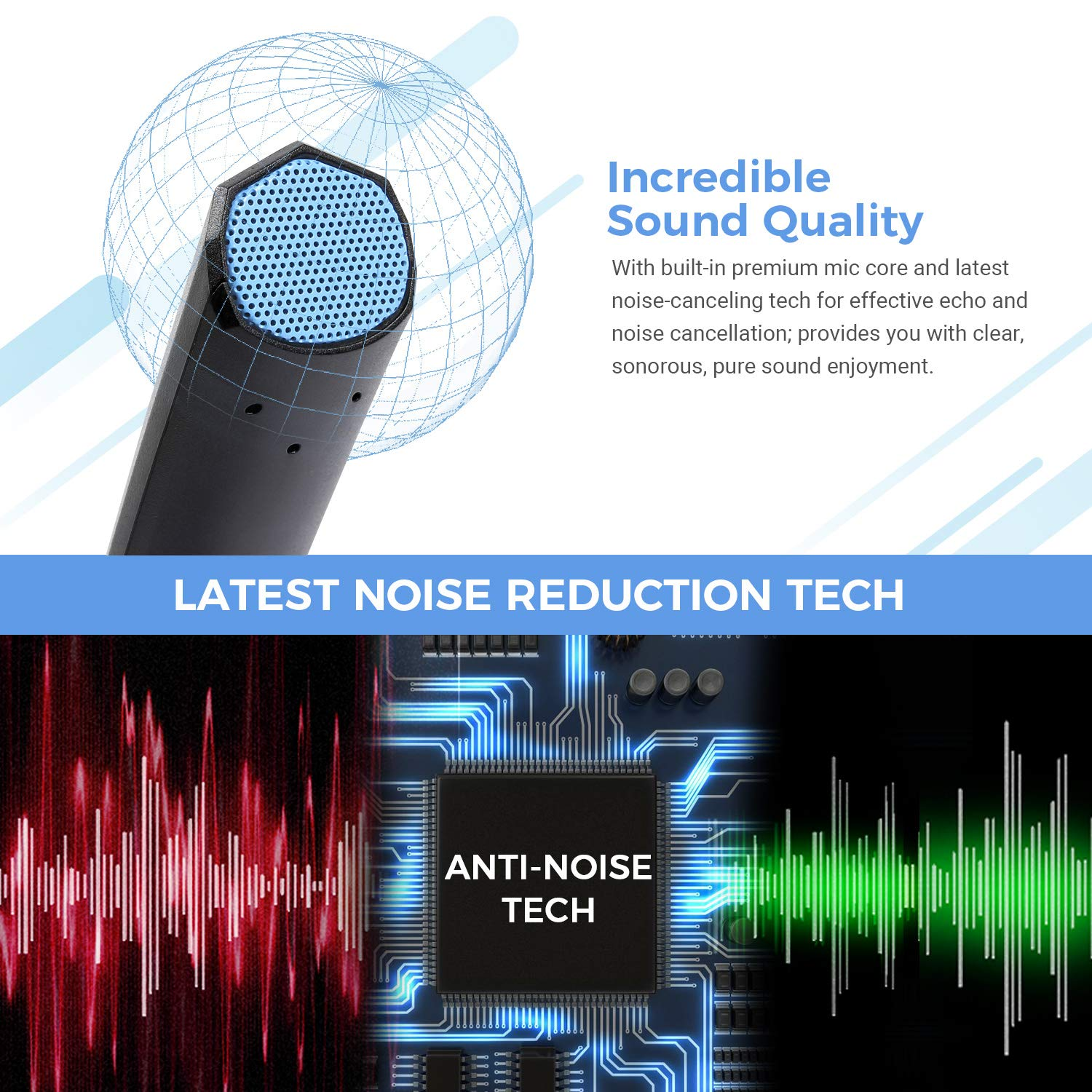 TONOR USB Microphone PC Gaming Mic with LED Indicator and Mute Button Compatible with Windows//macOS for Streaming//Chatting//Skype//YouTube//Recording//Podcasting