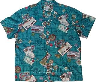 product image for Men's Hawaiiana Islands Hawaiian Aloha Vintage Rayon Shirt in Turquoise - L