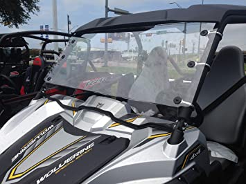 2018-2019 YAMAHA WOLVERINE R‑SPEC EPS SE  3//16  POLYCARBONATE  FULL WINDSHIELD