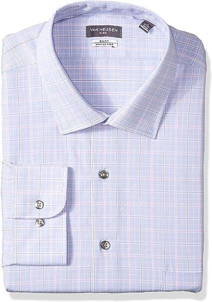 Van Heusen Mens Big and Tall Dress Shirts Big Fit Flex Check