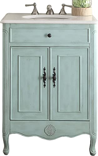 26″ Benton Collection Pastel Light Blue Daleville Bathroom Sink Vanity Model 838LB