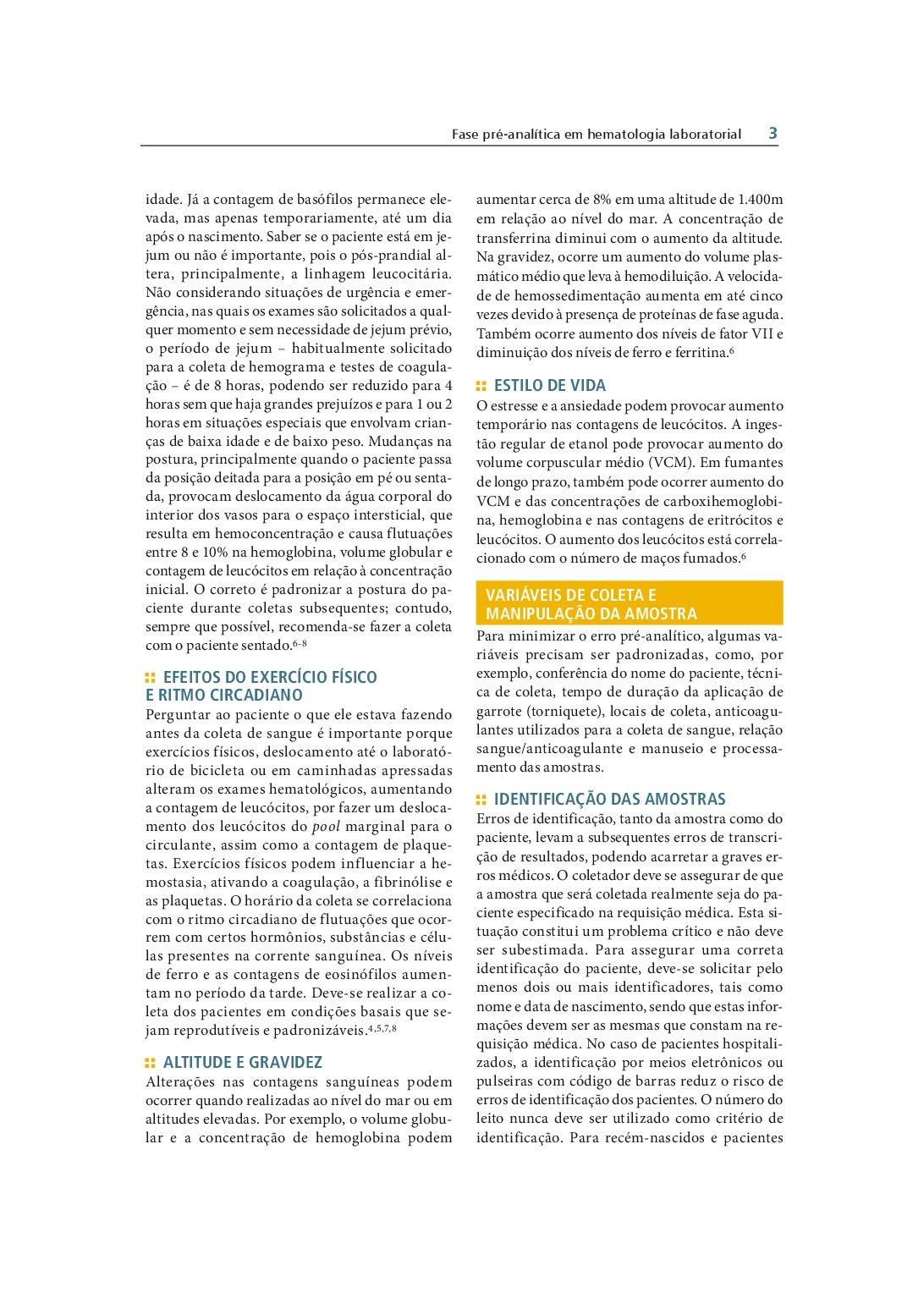 Hematologia Laboratorial. Teoria e Procedimentos Em ...