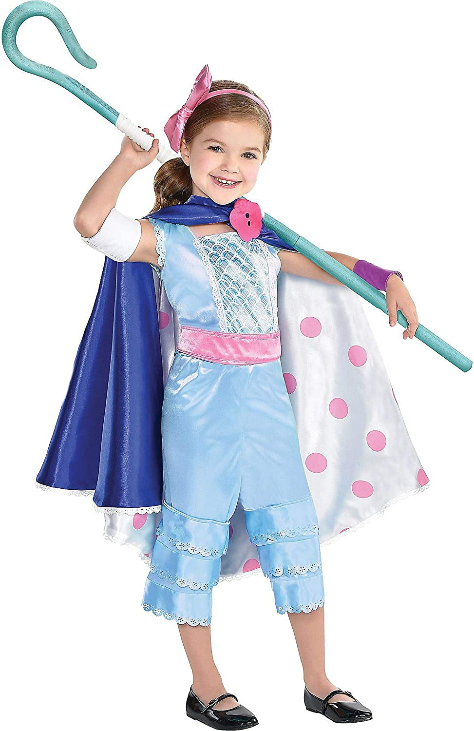 Girls Deluxe Bo Peep Costume Toy Story 4 Fancy Dress Outfit
