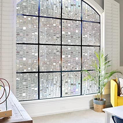 Beau 3D Static Cling Window Film Decorative Window Film No Glue Privacy  Film,Stained Glass Window