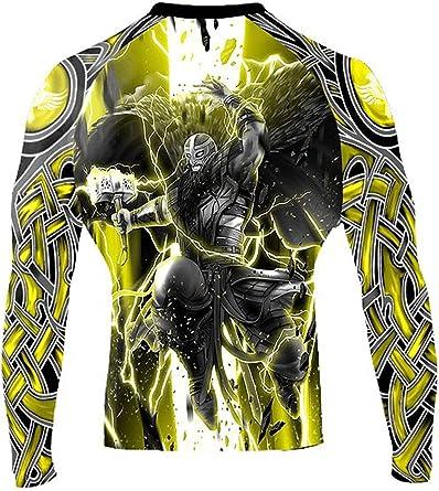 Raven Fightwear Mens Cybernetic Rash Guard MMA BJJ