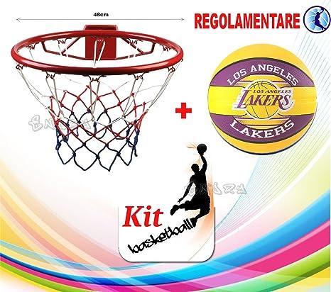Canasta baloncesto reglamentaria cm. 46 + Balón Spalding NBA Los ...