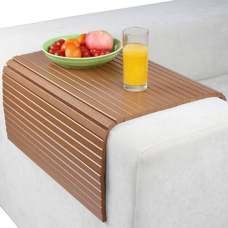 Jago Sofa Bamboo Tray Natural Wood 50 x 70 cm Flexible Stylish