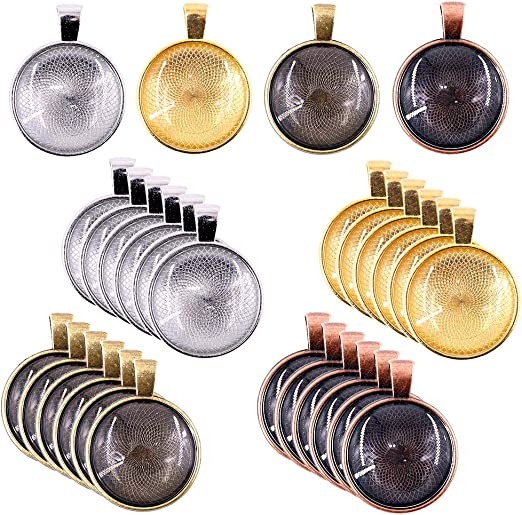 Bronze 25mm Red Copper jewellery making kit DIY Gold Pendant necklace kit