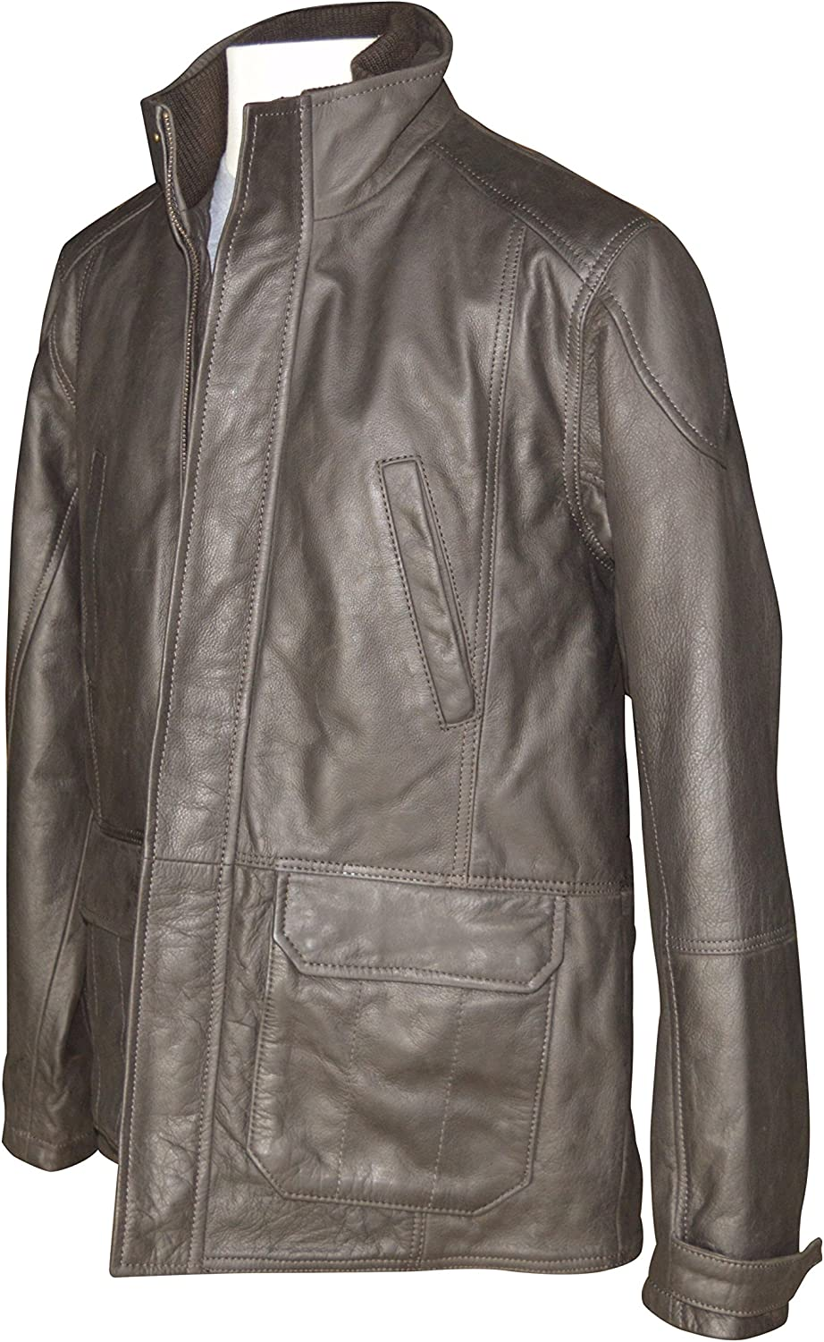 Austin Reed Brown Luxury Leather Jacket Large Amazon Co Uk Clothing