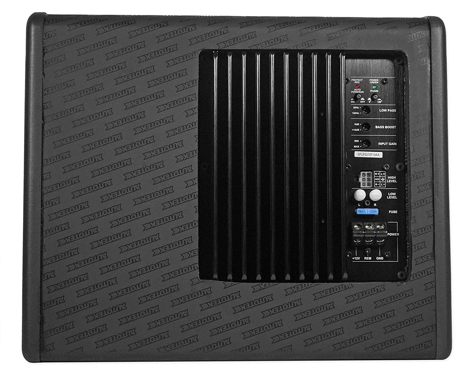 Autotek SSW110A 10 Inch 600 Watt Max 4 Ohm Loaded Enclosed Powered Subwoofer