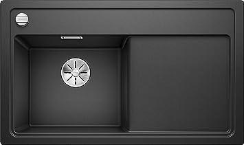 Blanco Axia III XL 6 S reversibel K/üchensp/üle aus Silgranit PuraDur Anthrazit-schwarz // mit InFino-Ablaufsystem inklusiv Holzschneidbrett und Ablauffernbedienung; 523500