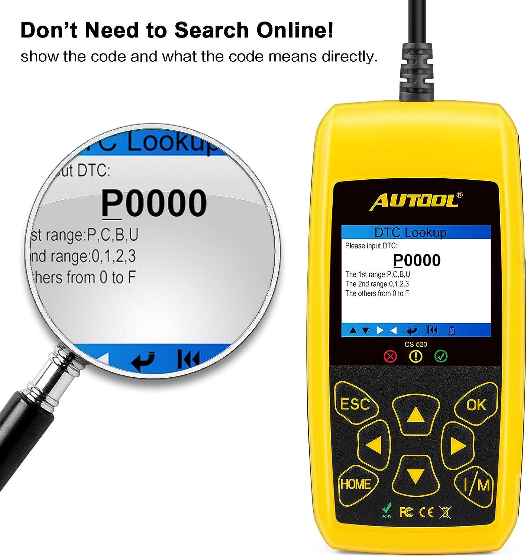 Diagnostic, Test & Measurement Tools AUTOOL Car Fault Reader CS520 ...