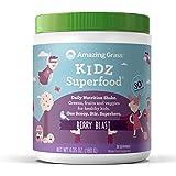 Amazing Grass, Organic Vegan Kidz Superfood Powder with Greens, Flavor: Berry Blast, 30 Servings