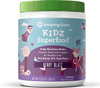 product image for Amazing Grass Kidz Superfood: Organic Greens, Fruits, Veggies & Probiotics for Healthy Kids, Berry Blast, 30 Servings