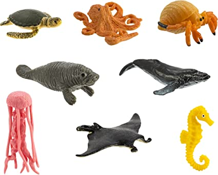 Amazon.com: Safari Ltd. Good Luck Minis - Sea Life Fun Pack - 8 Pieces -  Quality Construction from Phthalate, Lead and BPA Free Materials - for Ages  5 and Up: Toys & Games