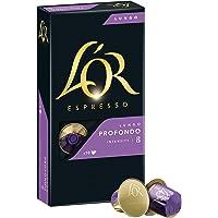 L'OR Espresso Coffee Lungo Profondo Intensity 8 - Nespresso®* Compatible Aluminium Coffee Capsules - Pack of 10 capsules (10 drinks)