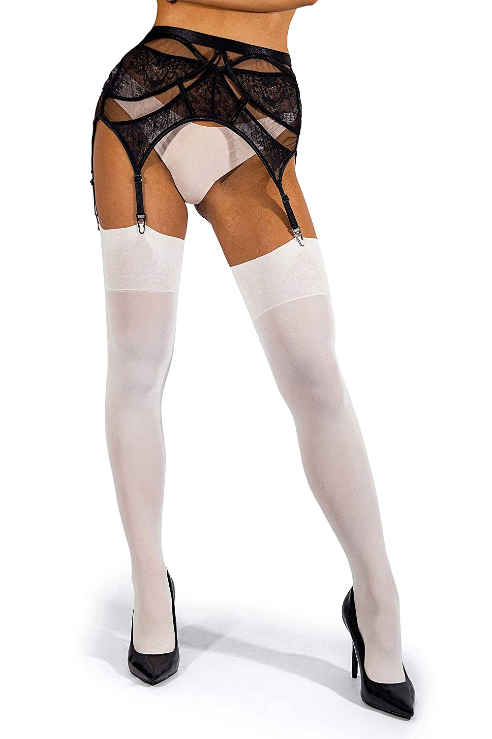 sofsy Opaque Thigh High Stockings 60 Denier Made in Italy