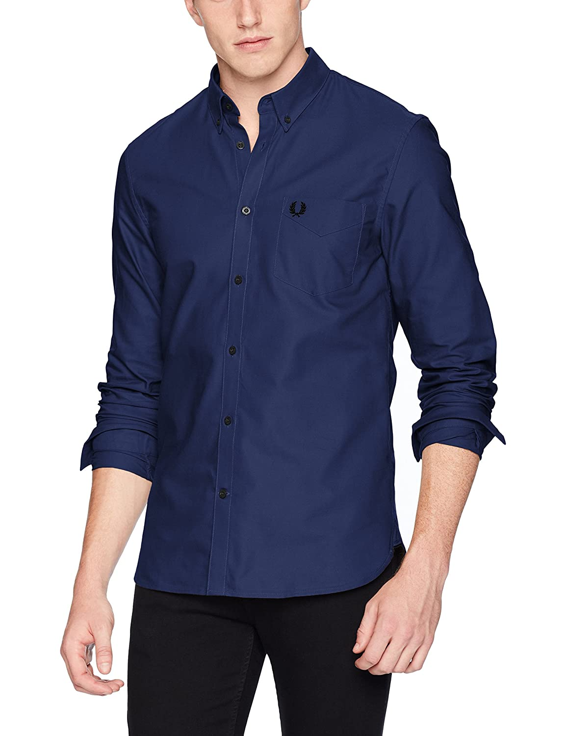 Fred Perry Hombres Classic Oxford Shirt Azul L: Amazon.es: Ropa y ...