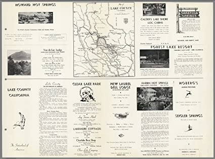Amazon.com: Map Poster - View: Lake County California, The ... on
