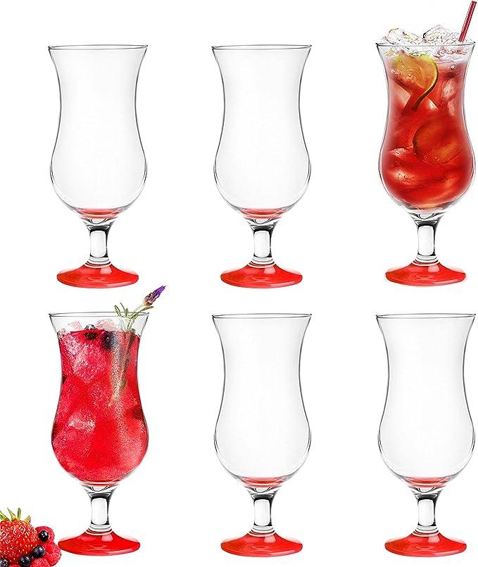 Lot de 6/verres /à cocktail Hurricane 480/ml 9/variantes Verres /à long drink Bar Verres vert