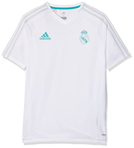 34dd22f5712 Image Unavailable. Image not available for. Color  adidas 2017-2018 Real  Madrid Training Football Soccer T-Shirt Jersey (White)