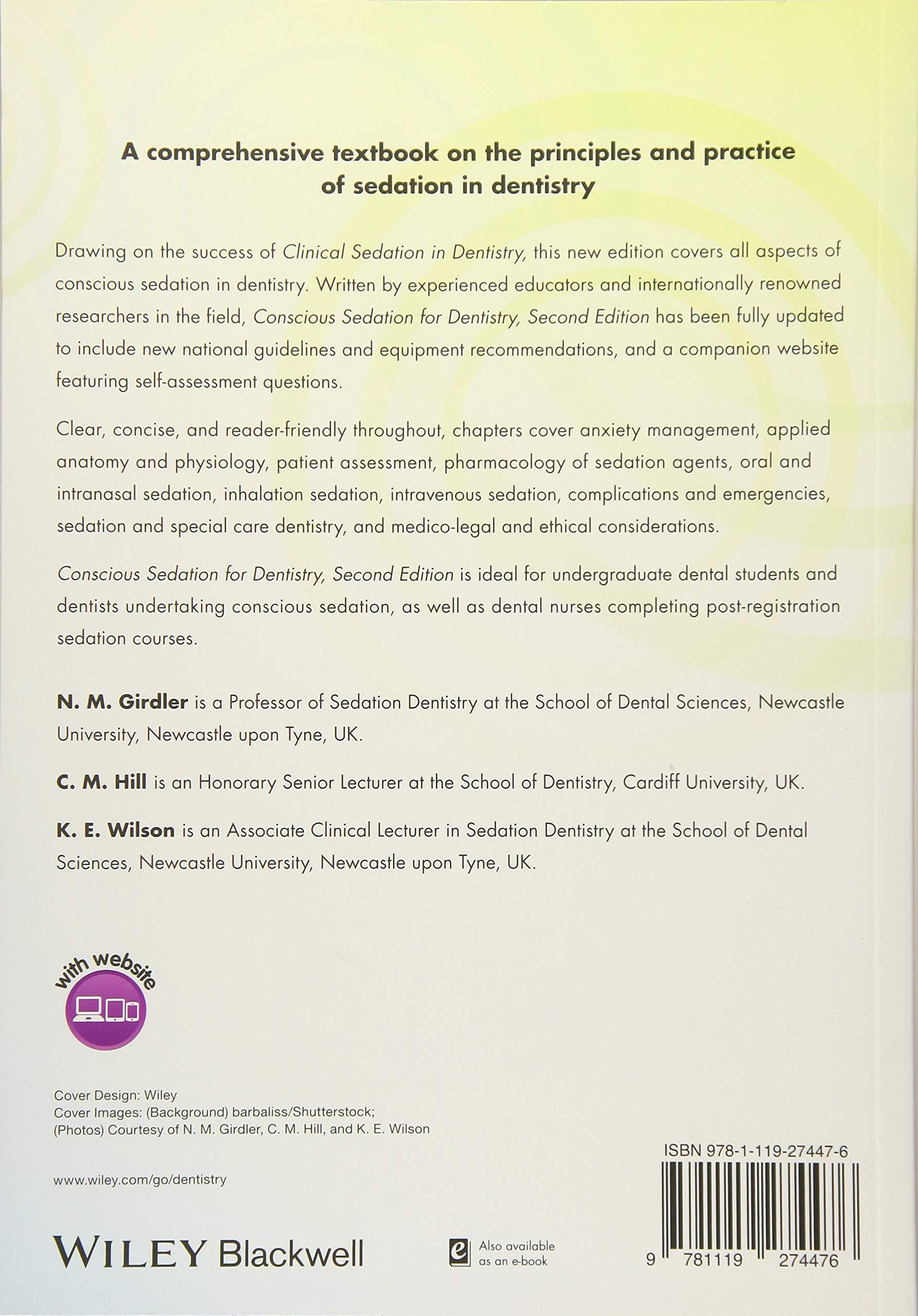 Conscious Sedation For Dentistry Amazon N M Girdler C