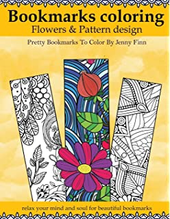 Amazon Com Re Marks Set Of 5 Spring Garden Coloring Bookmarks 2 Packs