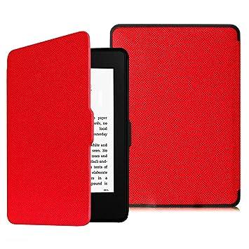 Fintie SlimShell Funda para Kindle Paperwhite - La Más Delgada y Ligera Carcasa de Cuero Sintético con Función de Auto-Reposo/Activacióan (No se ...